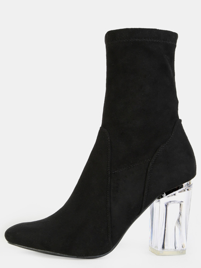 Bottines à talon haut - noir