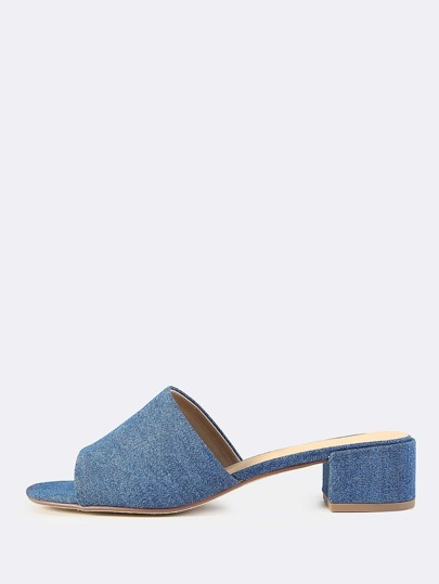 Denim Mules DENIM BLUE