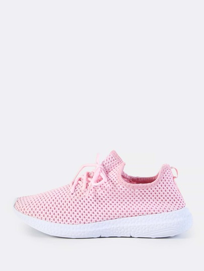 Fly Knit Netted Sneakers PINK