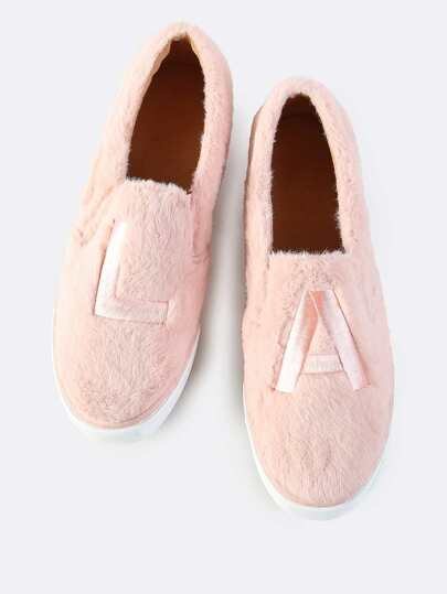 Faux Fur LA Slip On Sneakers BLUSH