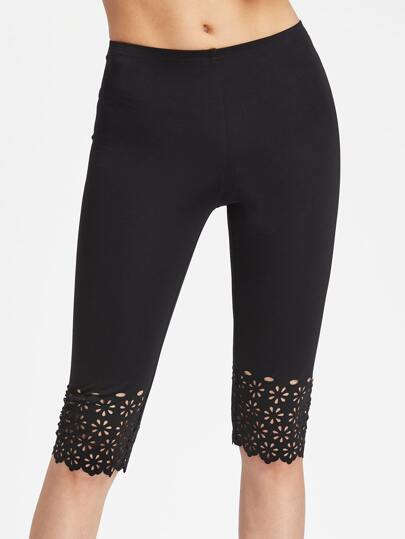 Leggings corte con cut-out laser