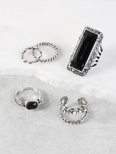 Vintage Stackable Ring Set SILVER