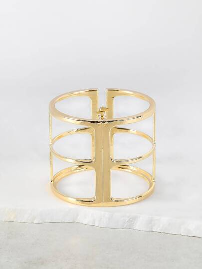 Caged Hinge Cuff GOLD