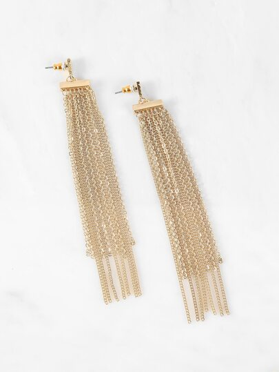 Chandelier Chain Earrings GOLD