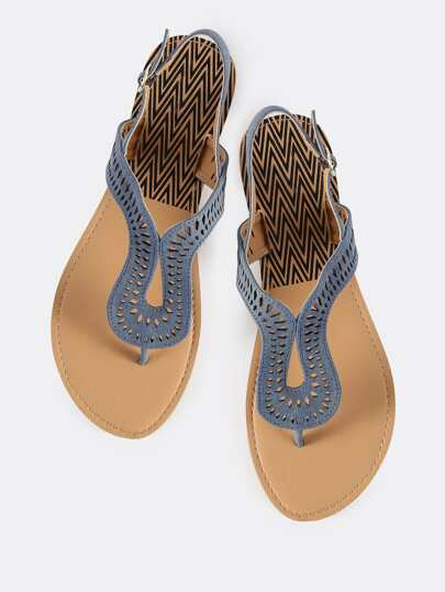Denim Loop Thong Sandals BLUE DENIM