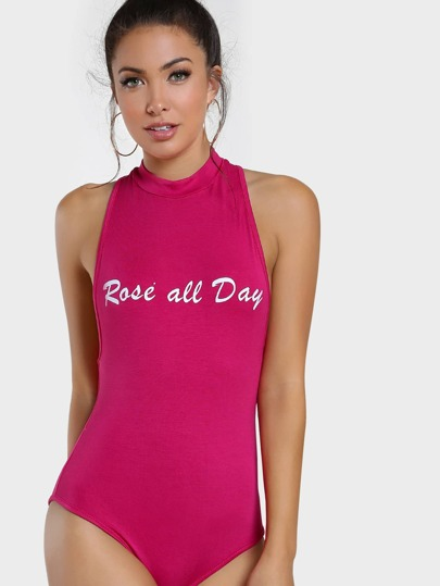 Body col rond manches courtes