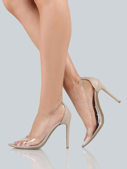 Clear Closed Toe Pumps CLEAR