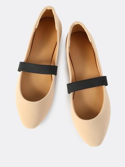 Ballet Elastic Band Flats NUDE