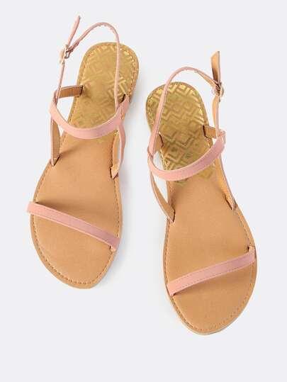 Dainty Open Toe Sandals MAUVE
