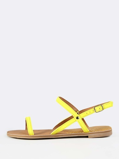 Neon Dainty Open Toe Sandals YELLOW