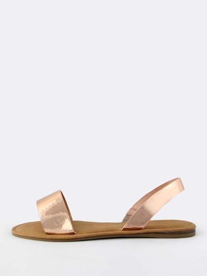 Metallic Sling Back Sandals ROSE GOLD