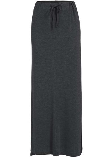 Falda split modal larga -gris