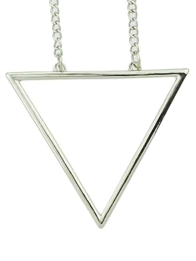 2015 New Fashion Gold And Silver Plated Long Triangle Necklace