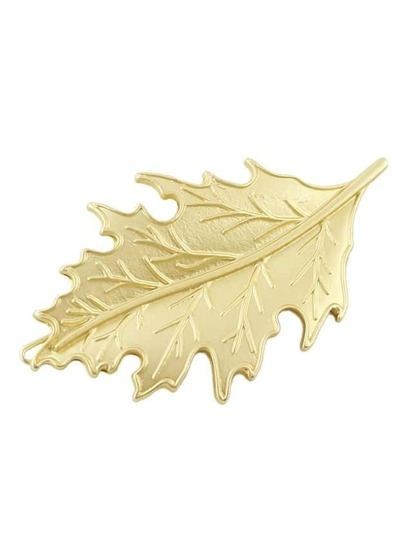 Gold Small Leaf Hair Pin
