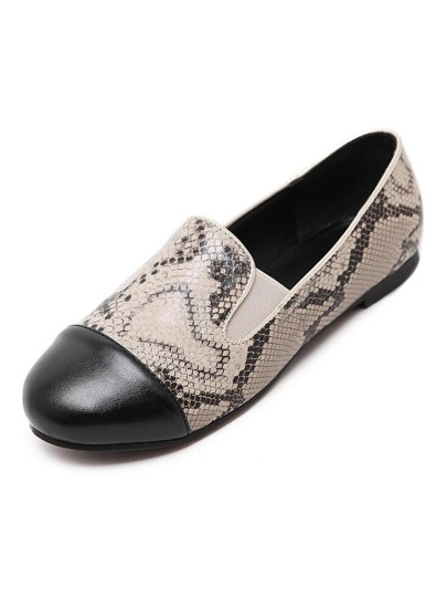chaussure bout rond - Abricot