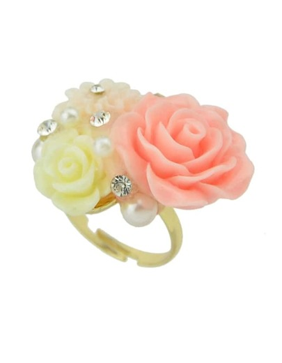 Adjustable Colorful Resin Flower Rings For Women