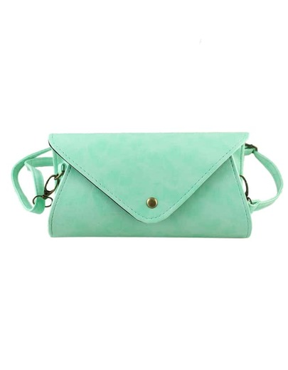 Green Pu Leather Handbag