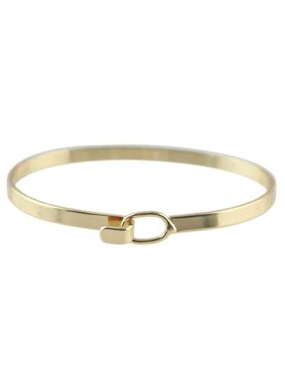 Brazalete simple de moda -dorado