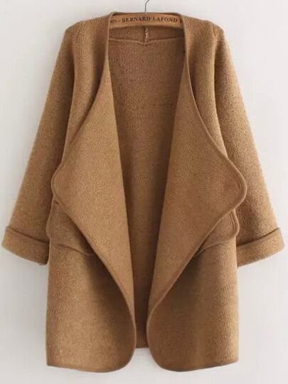 Open Front Loose Coat
