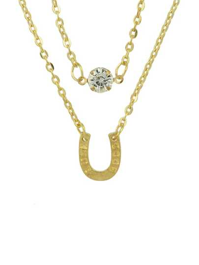 Gold Plated Multilayers Chain Necklace