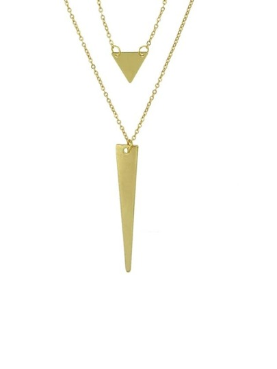 Gold Plated Multilayer Chain Necklace