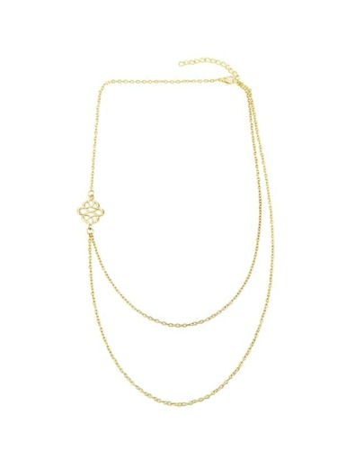 Gold Two Layers Chain Necklace