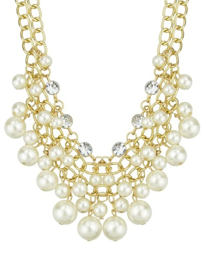 Multilayers Statement Pearl Necklace