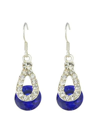 Blue Shining Long Drop Earrings