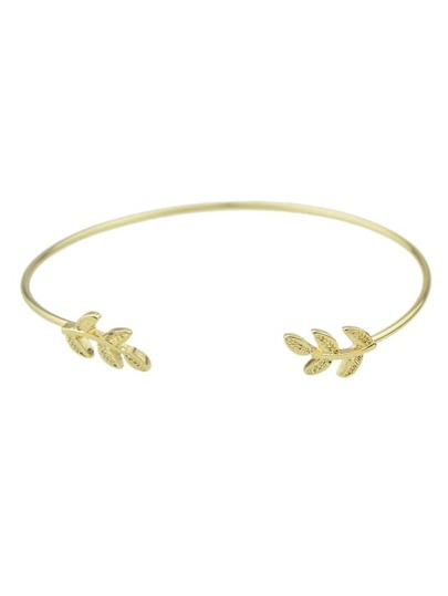 New Fashion Adjustable Gold Leaf Shape Cuff Bracelet