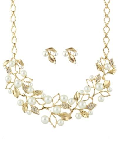 Gold Pearl Jeweley Set