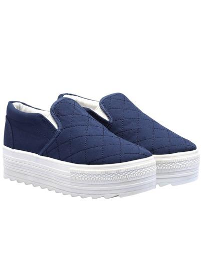 chaussures plates -bleu