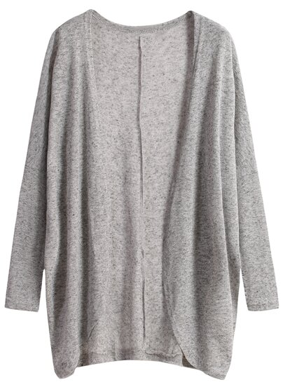 Long Sleeve Loose Grey Cardigan