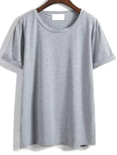 Maglietta sciolta alla moda grigia