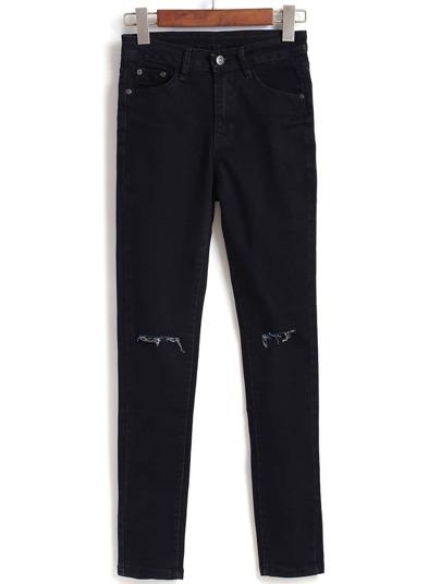 Cut Out Slim Denim Pant