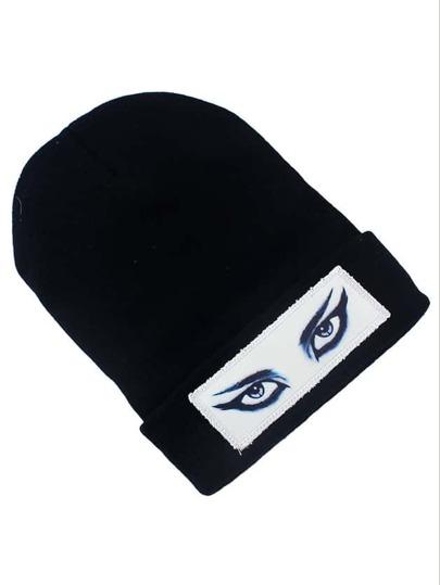Cappello stampato occhi nero