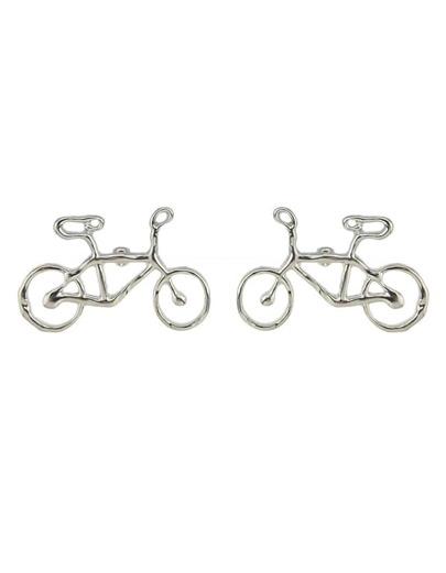 Silver Vivid Bike Stud Earrings
