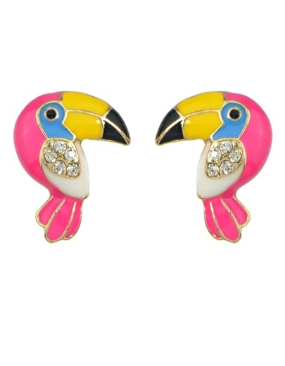 Cute Parrot Shape Stud Earrings