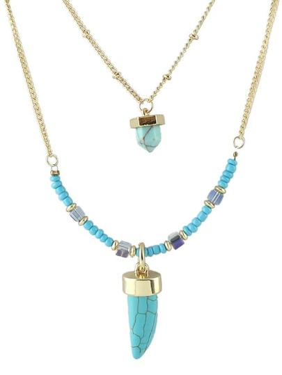 Blue Turquoise Necklace Chain