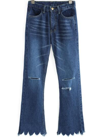 Pantaloni con taglio blu