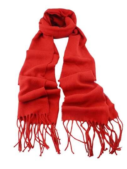 Echarpe en cachemire de tendance mode -rouge