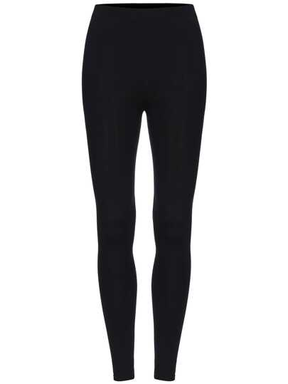 Black Elastic Skinny Leggings