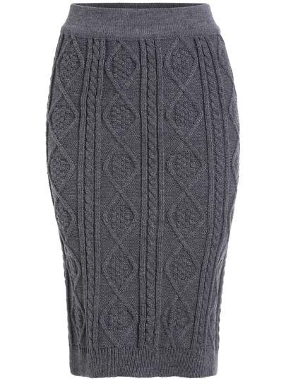 Falda diamond casual jersey -gris