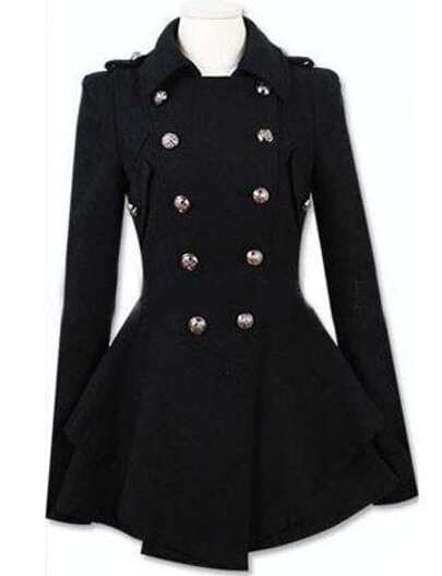 Black Lapel Double Breasted Frock Coat