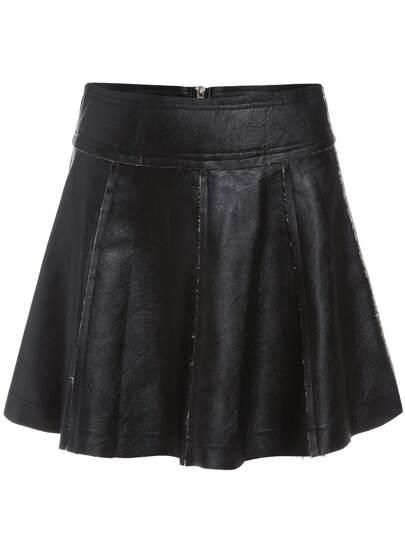 Falda línea A pu -negro