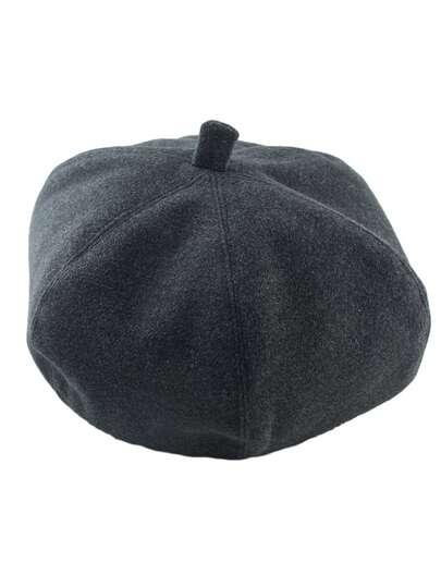 Darkgray Wollen Topper Winter Hat