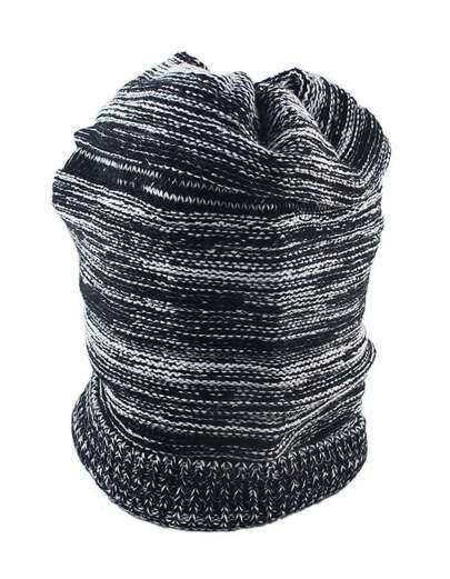 Fashion Winter Style Black Woolen Lady Knitted Beanie Hat
