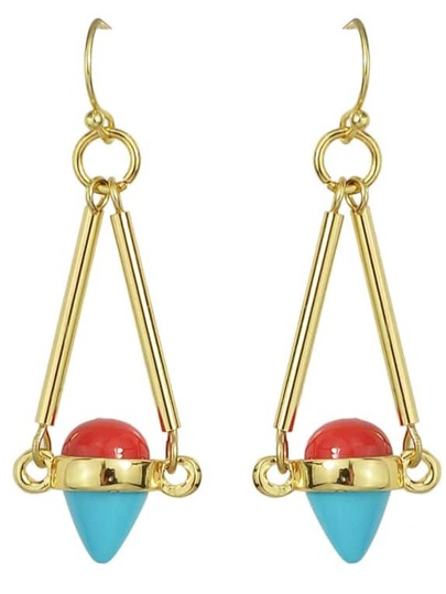 Gold Plated Hanging Long Earrings