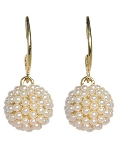 Imitation Pearl Clip On Earrings