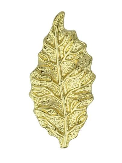 Broche forme de feuillage -doré