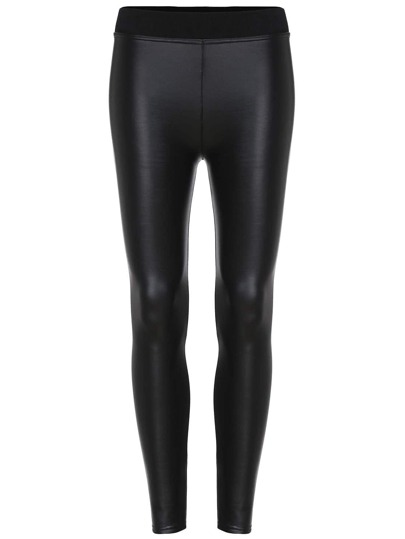 Leggings thicken pu -negro